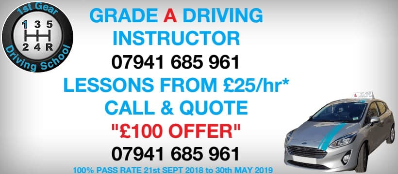 Lessons from £22.50 per hour. Call today 07941 685961
